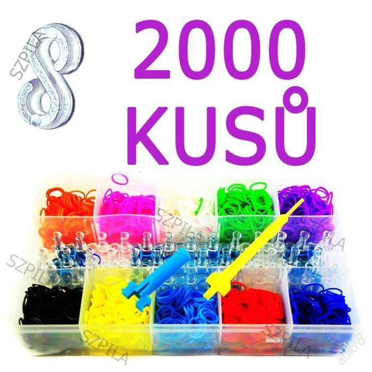 RAINBOW náramky 2000ks SADA GUMIČKY Loom Bands 24M